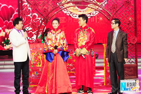 Cheng Sicheng, Tong Liya hold traditional wedding[3 ...