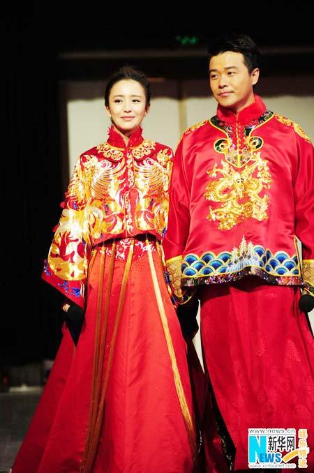 Cheng Sicheng, Tong Liya hold traditional wedding[4 ...