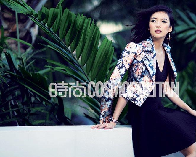Zhang Ziyi shoots for fashion magazine[1]- Chinadaily.com.cn