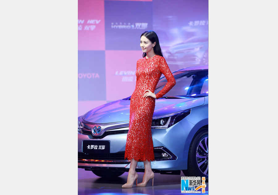 Gao Yuanyuan attends auto show in Shanghai