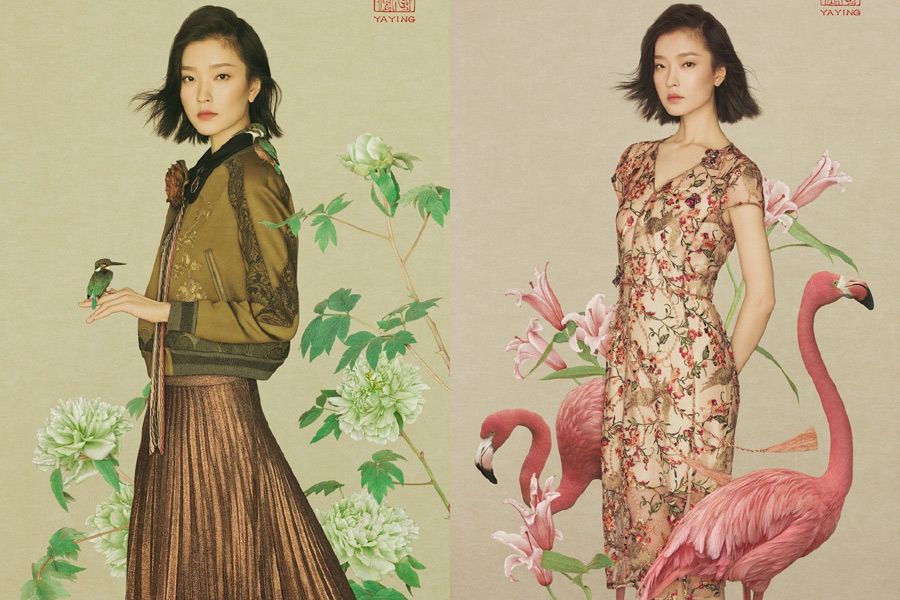 Female celebrities featured in Chinese-style fashion photos