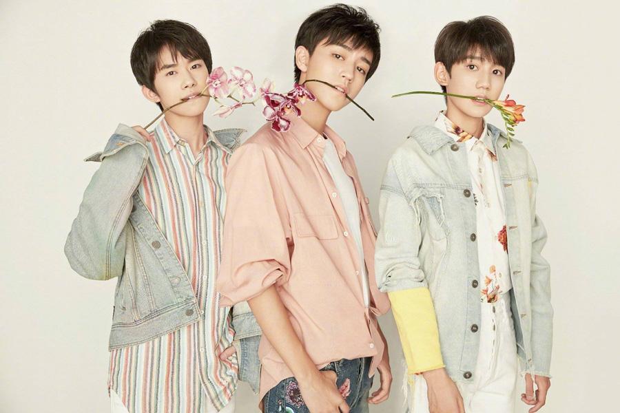 Music group TF Boys' fashion shoot