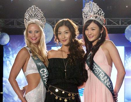 From left: Julia Liptakova of Slovakia, last year's winner of Miss Bikini ...