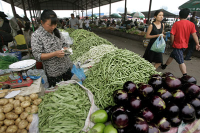 China produce market