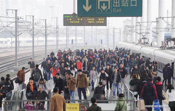 China witnesses travel peak on last day of New Year holiday[1]