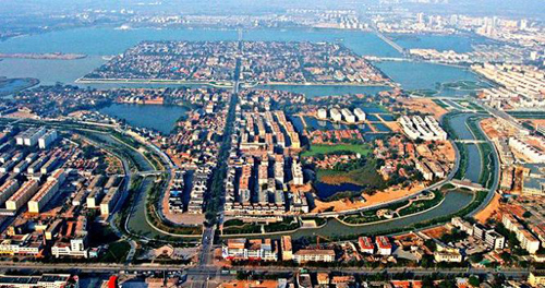 Liaocheng China  city photos : ... overview of the city of Liaocheng in East China's Shandong Province