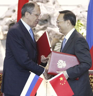 China, Russia sign border agreement