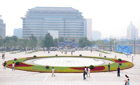 Photo taken on July 23, 2008 shows a view of the new Xidan Cultural Square in Beijing