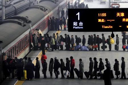 Entrada al tren chino