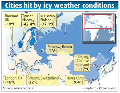 Cold snap linked to global warming