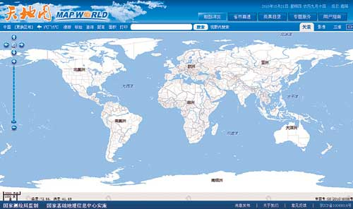 China Launches Own Online Map Service - World maps online