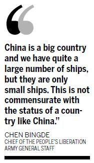 Official confirms China building aircraft carrier|Politics