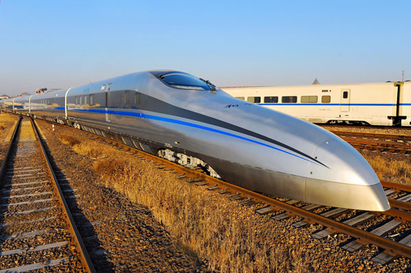 China launches super-speed test train