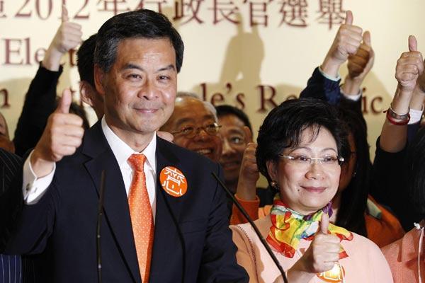 Leung Chun-ying elected as HK chief executive