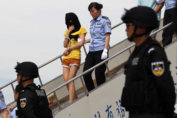 Roller-blading policewomen introduced in China