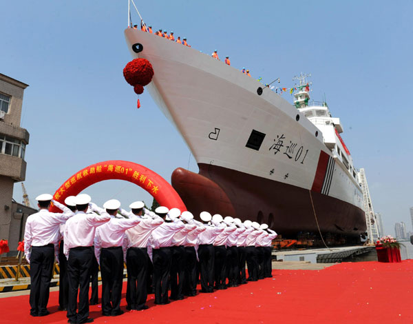 China launches its largest patrol vessel