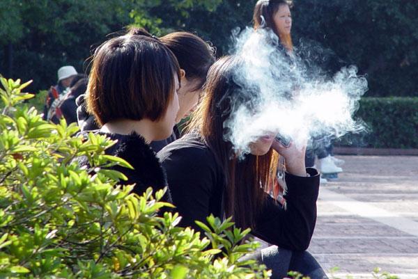 Non nude teen girls smoking