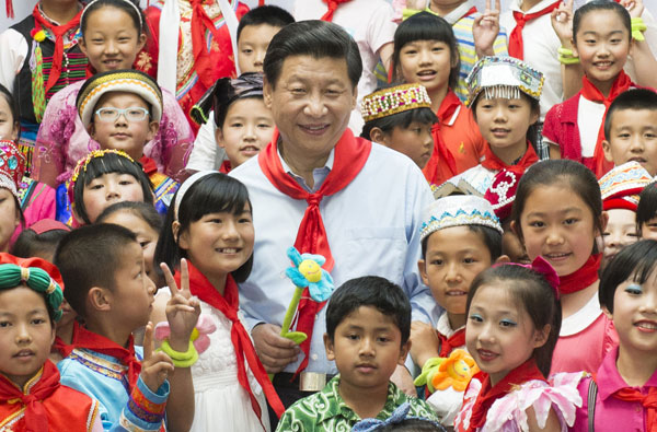 Image result for xi with children