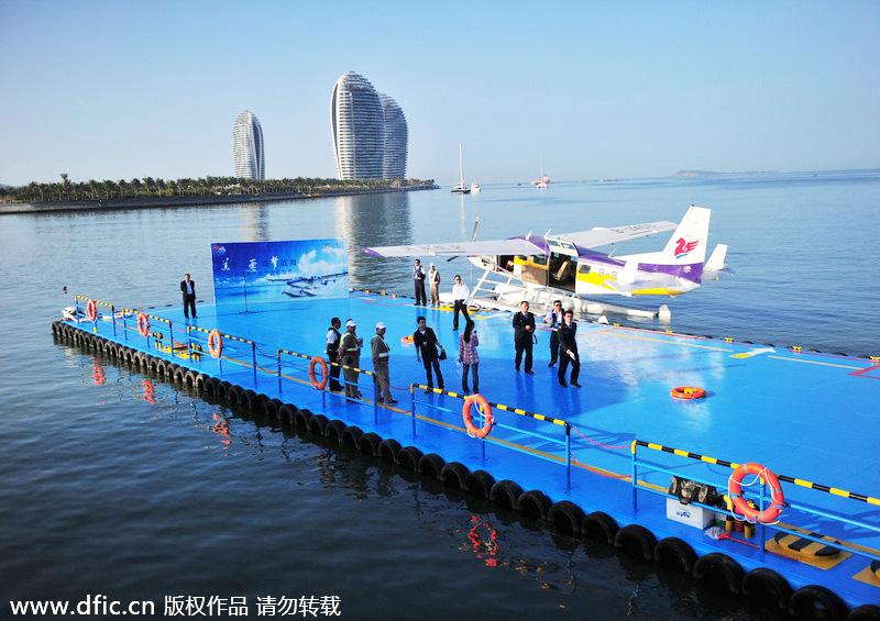 First amphibious aircraft lures tourists[3]- Chinadaily com cn