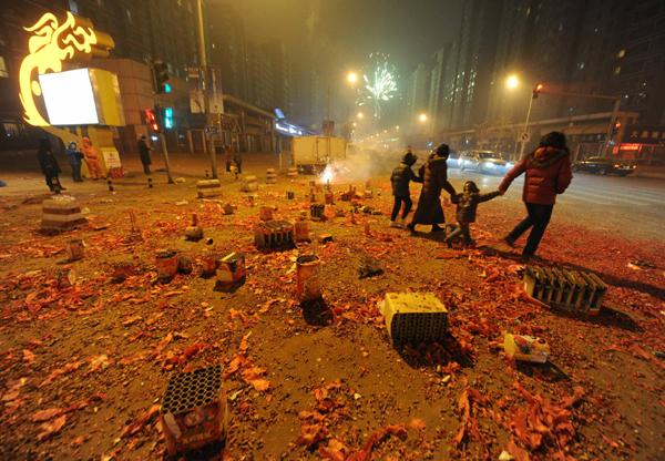 Link to Firework revelry aggravates Beijing smog
