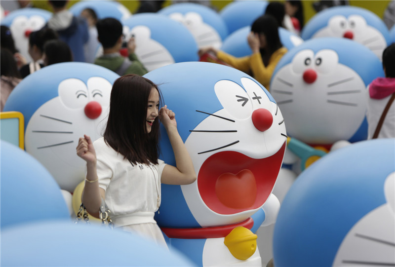 cute doraemon on show in beijing 1 chinadaily com cn