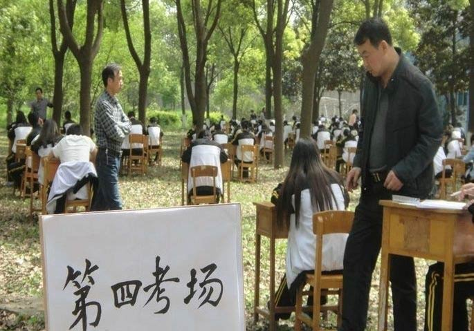 Exams held in woods to prevent cheating