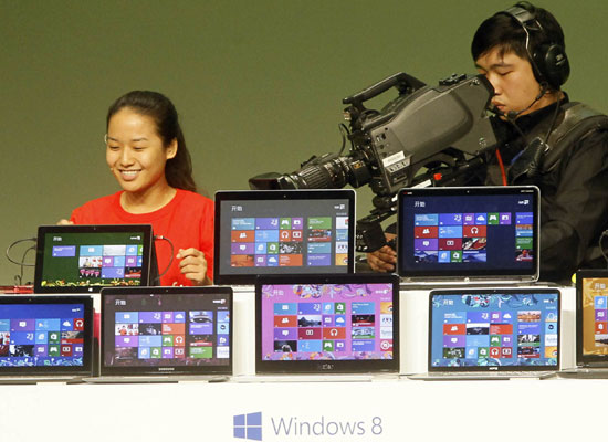 China excludes Windows 8 from govt computers