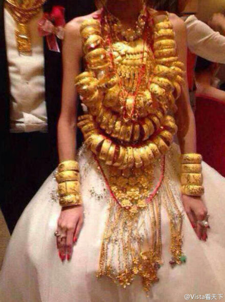 Bride wears 70 gold bracelets in S China China Chinadailycomcn