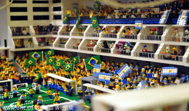Lego World Cup stadiums displayed in Hong Kong[4]- Chinadaily.com.cn