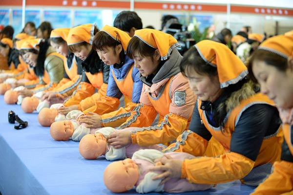 Demand grows for skilled <EM>yue sao</EM> nannies