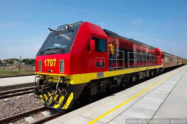 China restores copper rail line for angola china for China railway 13 bureau group corporation