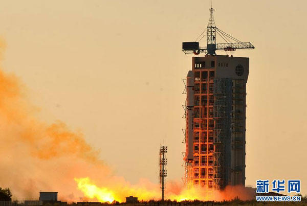 China launches two satellites via one rocket