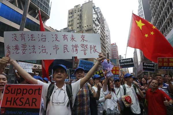 Protesters ignore HK court order