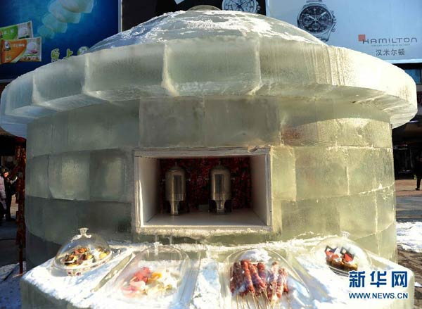 Ice restaurant opens in Northeast China city