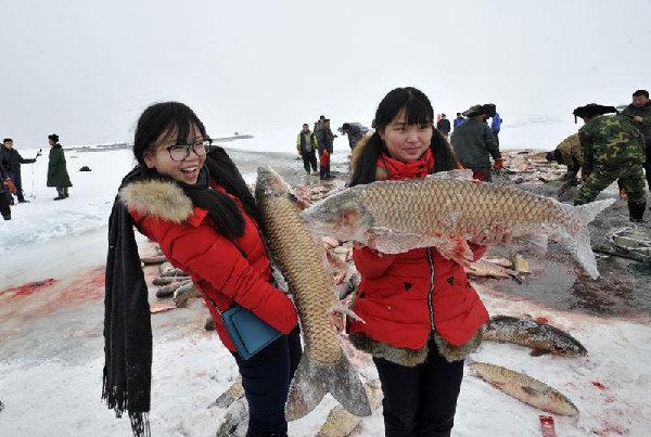 Huaibei China  city images : Bosten Lake, China's largest inland freshwater lake in Northwest China ...