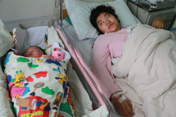 woman gives birth to 13 pound baby 2 chinadaily com cn
