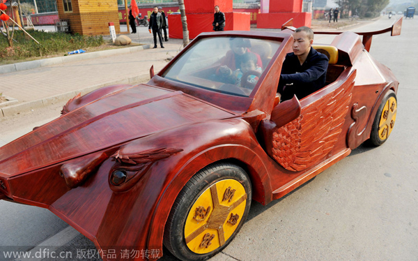 Farmer Builds Sports Car Out Of Wood1 Chinadailycomcn
