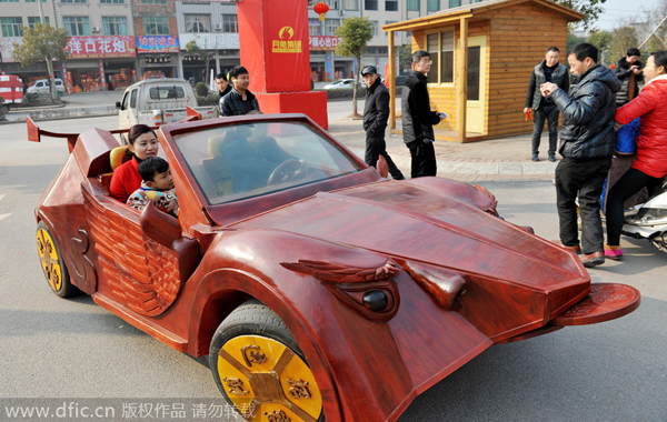 Farmer Builds Sports Car Out Of Wood5 Chinadailycomcn