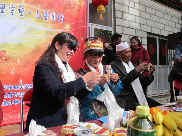 In Tibet, two celebrations coincide