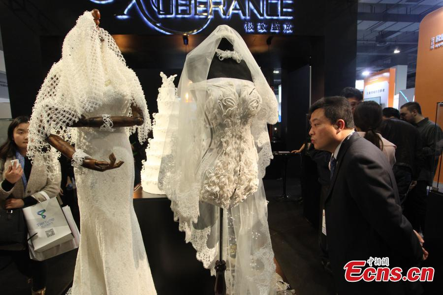 D Printing Exhibition China : D printed wedding dresses steal the limelight
