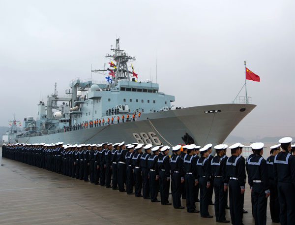 New navy escort fleet leave for Gulf of Aden[1]- Chinadaily