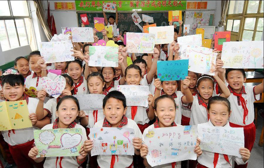 students celebrate chinese teachers day1 chinadailycomcn