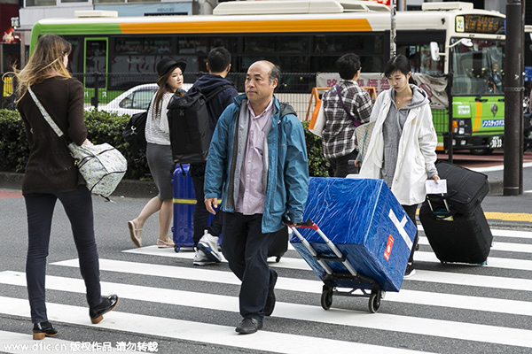 Chinese tourists spend over $830 m in Japan during Golden Week