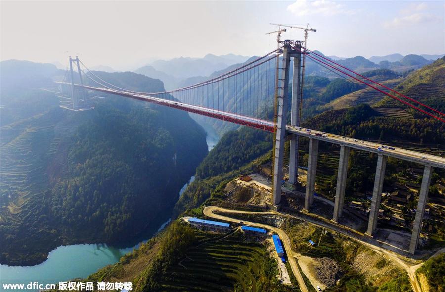 World's second highest bridge in Southwest China put into ...