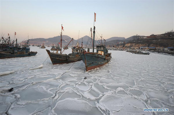China issues first sea ice yellow alert of the winter ...