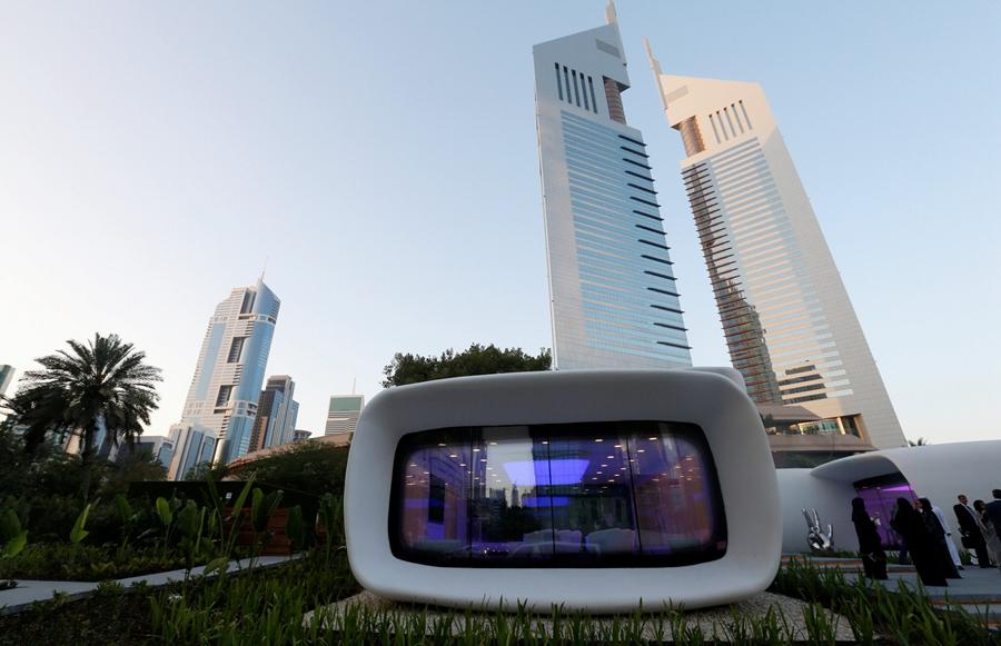 银河娱乐:中国制造的世界上第一个功能的3D打印的建筑在迪拜打开