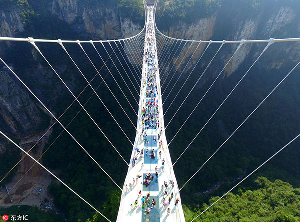designer explains his glass bridge of love - Zhangjiajie Glass Bridge
