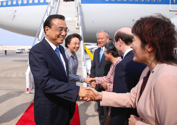 Li arrives in NY for high-level discussions at UN