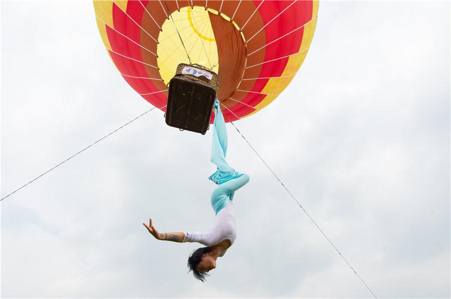 Airborne yoga 1 for Housse ballon yoga