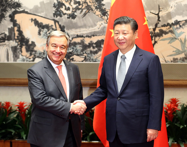 Xi commits to strong backing for UN